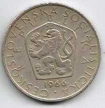 Buy CZECHOSLOVAKIA 1966 Five (5) Korun Coin