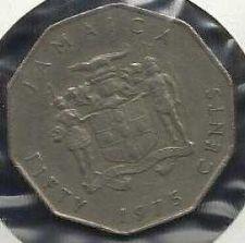 Buy Jamaica 50 Cents, 1975, Marcus Garvey