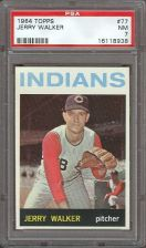 Buy 1964 Topps #77 Jerry Walker Cleveland Indians PSA NM 7