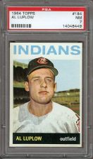 Buy 1964 Topps #184 Al Luplow Cleveland Indians PSA NM 7