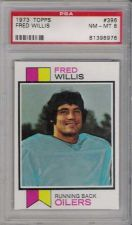 Buy 1973 Topps Football #396 Fred Willis PSA 8 NM-MT Houston Oilers