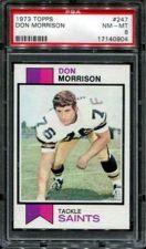 Buy 1973 Topps Football #247 Don Morrison PSA 8 NM-MT New Orleans Saints