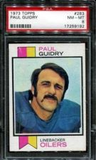 Buy 1973 Topps Football #283 Paul Guidry PSA 8 NM-MT Houston Oilers