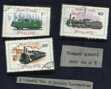 Buy Hungary 1976 # 2443-5 Trains/Locomotives