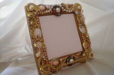 Buy Jeweled Frame Mirror W/Vintage Jewelry