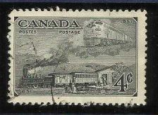 Buy Canada #311 1951 4 cent black TRAINS of 1861 & 1951