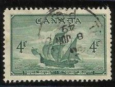 "Buy Canada #282(33) 1949 4 cent deep green Cabot's Ship ""The Matthew"""