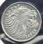 Buy 1969 Ethiopia 1 cent Lion animal wildlife coin. 17 mm.