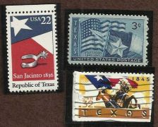 Buy Three Varieties TX Stamps