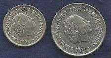 Buy Netherlands 25 Cents 1968 & 10 Cents 1950