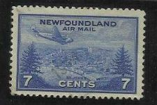 Buy NEWFOUNDLAND, 7 CENTS AIRMAIL, ST JOHNS VERY FINE USED, CANADA
