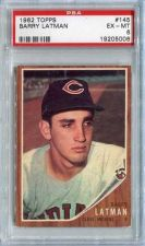 Buy 1962 Topps #145 Barry Latman Cleveland Indians PSA EX-MT 6