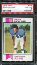 Buy 1973 Topps Football #324 Gene Howard PSA 8 NM-MT Los Angeles Rams