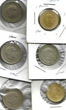 Buy Spain LOT 5: Lot of 6 coins 5 Peseta (4 coins) and 1 Peseta (2 Coins)