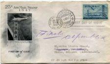 Buy 1947 AirMail 25c Stamp Pan American Clipper San Francisco Golden Gate Bridge