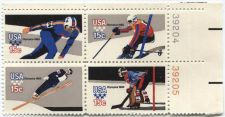 Buy 1980 Winter Olympics Commemorative Stamps 2x2 Upper Right Corner Plate Block