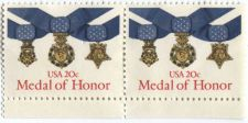 Buy 1983 US 20c Medal of Honor Commemorative Stamps Pair Joined