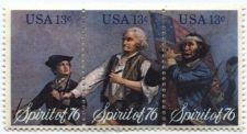 Buy 1976 Spirit of '76 USA 13c 3-Stamp strip set Good uncirculated condition