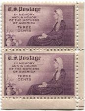 Buy 1934 USA Commemorative Memory and Honor of Mothers of America 3c stamps x2