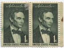 Buy 1959 1c Abraham Lincoln Stamp Pair of Joined Mint