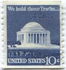 "Buy 1973 US 10c Jefferson Memorial ""We Hold These Truths"" Coil Stamp"