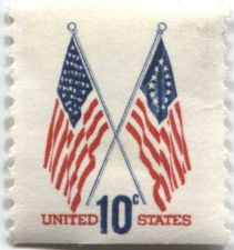 Buy 1973 10c Crossed Flags United States 50 Star and 13 Star Flags