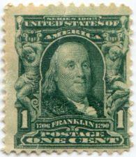 Buy 1903 1c Ben Franklin Series 1902 Unused US Postage Stamp