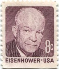 Buy 1971 8c Eisenhower US Postage Stamp Mint Unused Condition Red