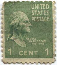 Buy 1938 1c George Washington Single US Postage Stamp Good Unused Condition