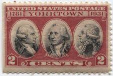 Buy 1931 US Commemorative 2c Stamp Yorktown Catalog #703 Bad Printing Alignment