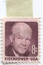 Buy 1971 8c Eisenhower US Postage Stamp Hinged Unused Condition Red