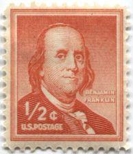 Buy 1958 US 1/2c Benjamin Franklin Postage Stamp Single Better