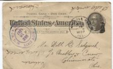 Buy 1897 One Cent Postal Card Worn Used Addressed Canceled Dec. 15 1897