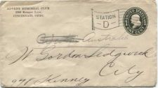 Buy Unknown Year 1c Franklin Stamped Envelope Revenue Stamp Addressed