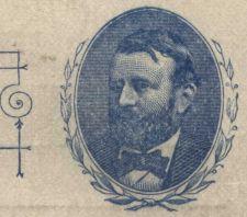 Buy 1891 Pioneer Era Postal Card 1c Grant Blue Preprinted but Unused