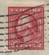 Buy 1911 2c Washington Double Line Canceled addressed Loiusville Cancellation