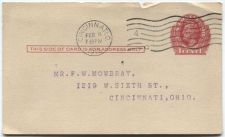 Buy 1912 Canceled 1c Lincoln Red Postal Card Cincinnati, OH