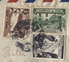 Buy Correos Del Peru 2c, 5c and 70c Air Mail Inspected Certified Envelope
