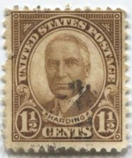 Buy 1930 Harding 1 1/2c Stamp Used Very Good condition High off Center