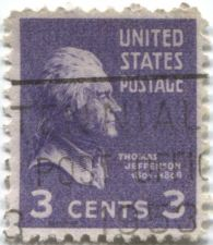 Buy 1938 3c Jefferson Post Marked Post Office Centennial 1953
