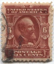 Buy 1903 6c President Garfield Claret Stamp Good Used Condition