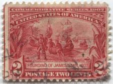 Buy 1907 2c Founding of Jamestown 1607 Two Cents Red Commermorative Series