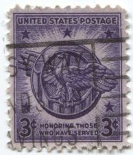 Buy 1946 3c Veterans of WWII Honoring those who have served Used Cancelled Stamp