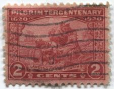 Buy 1920 2c Cents Landing of the Pilgrims Cancelled Off Paper Good Condtion