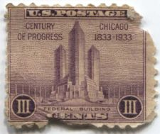 Buy 1933 3 Cents Roman Numerals Unused slightly damaged Good old stamp