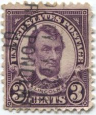 Buy 1926 3 Cents Lincoln Violet Cancelled Off Paper Fair Condition