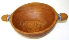 Buy Wooden Round Bowl with handles