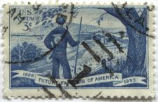 Buy 1953 3c Future Farmers of America Used Cancelled Stamp in Good Condition