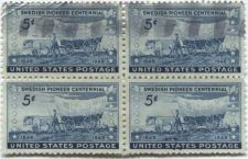 Buy 1948 5c Swedish Pioneers Centennial Stamp Grid 4x4 only 2 Cancelled Good