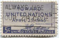 "Buy 1945 ""Toward United Nations April, 25 1945"" President Franklin D. Roosevelt Zip"